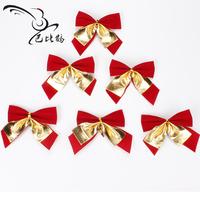 Christmas decoration christmas bobby gold bow christmas pendant decoration