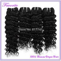 Ali Favorite Hair 6A Brazilian Virgin Hair Weaves 4PCs/Lot Bundles Unprocessed Virgin Brazilian Deep Wave Human Hair Extension