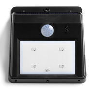 Mini Solar Power LED Motion Sensor Light Nightlight Dusk to Dawn Dark Sensing Auto On / Off