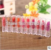 10 colors/lots waterproof lipgloss matte lipstick Sleek Glossy Lip Rouge Lipstick Makeup Long-lasting Cosmetic Lipgloss