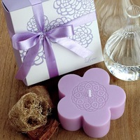 [1 pc] romantic wedding aromatherapy candles wedding favor gift handmade purple flower candles smokeless scented soy wax candle