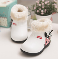 2014 winter girl boot high quality fashion children shoes cute snow boot for kids