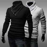 Free shipping 2014 new Korean version of the trend of the half-zip collar men's Slim Slim sweater coat sweater hedging