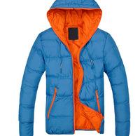 2014 Men's fashion warm coat winter male escort padded Korean Slim lambs wool coat jacket Men