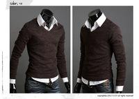 Free ShippingEngland retro rabbit plush cozy knit sweater men