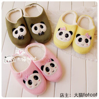 Autumn and winter soft home floor lovers thermal package with plush cotton-padded slippers