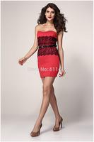 BD050,Free shipping fashion new sleeveless bustier mini dress,sexy cherrykeke waisted dress