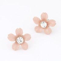 2015 Ladies Earrings Korean fashion earrings personalized sweet Girls flowers earrings for Women Free shipping Z&E2110