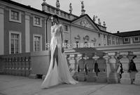 New Design X91802  Best quality Elegant Charming Sheath lace long-sleeved  V-neck wedding dress VESTIDO DE NOIVA