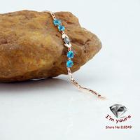 8534261-1&3 18K gold plated Russia CC color rose gold zircon Bracelet 2pcs/lot