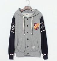 Autumn 2014 Hot Sell Men Waterproof Hoodie Jacket / Mens Casual fashion men baseball Jackets tops coats/ Free Shipping
