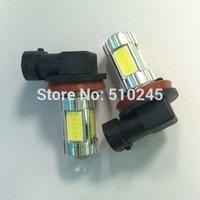 10X auto H11 high power& bright 25W 4 COB+ 1PC 5W CREE 12V car Fog Light Headlight Daytime Running led Light bulb free shipping