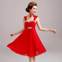 Red evening dress short  dress design bandage dress evening dress  A082#