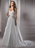 Hight quality sweetheart neckline long wedding dress 2014 bambas J1492