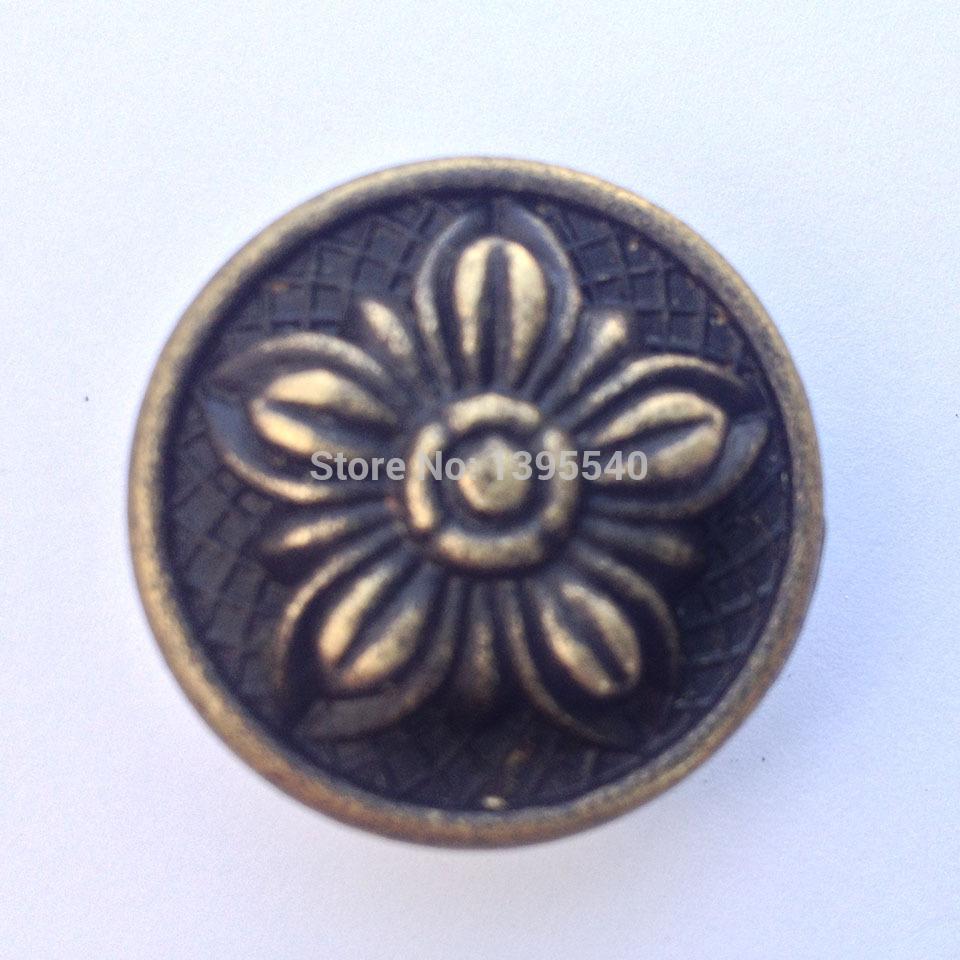 New 10pcs Antique Cabinet Drawer Knobs Wardrobe Closet Handle Bronze Furniture Hardware Jewellery Box Pull Cabinet Cupboard Knob(China (Mainland))