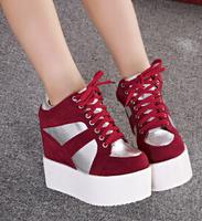 fashion new 2014 autumn winters short boots  wedges heels women's short  boots