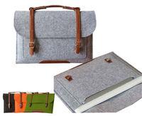 "New Fashion Felt Ultrabook Bag Tote Case 11"" 13"" 15"" Laptop Notebook Sleeve Carrying Case Handbag For Macbook  Air Pro"