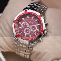 CURREN fashion trend men's watches Decorative False three circles steel bracelet watch clock