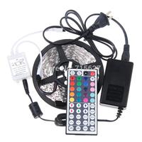 5M RGB led Strip 5050 SMD 60led/m Flexible Waterproof + 44key Remote + 12V Transformer For Home Decoration Freeshipping
