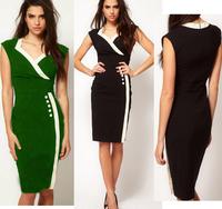 Hot-selling women's ebay 2014 summer fashion women's sleeveless slim pencil one-piece dress