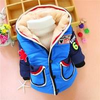 4pc/lot baby boys coats winter fleece children clothing kids outerwear jackets hooded factory wholesale panya 215