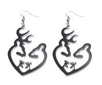 FashionJewelry Browning Deer 1PAIR Drop HOOKS Earrings Christmas Gift
