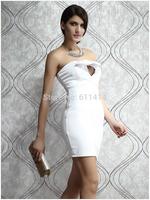 BD037,Free shipping white cherrykeke close-fitting evening bustier dress