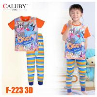 Girls Elsa & Anna Pajamas Sets Big Kids Autumn -Summer Clothing Set New 2014 Wholesale 8-12Y Frozen Pyjamas F-137