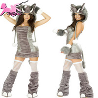 cosplay High Grade Naughty Plush elephant Carnival halloween costumes for women Sexy Bodycon Dresses animal costume XDW012