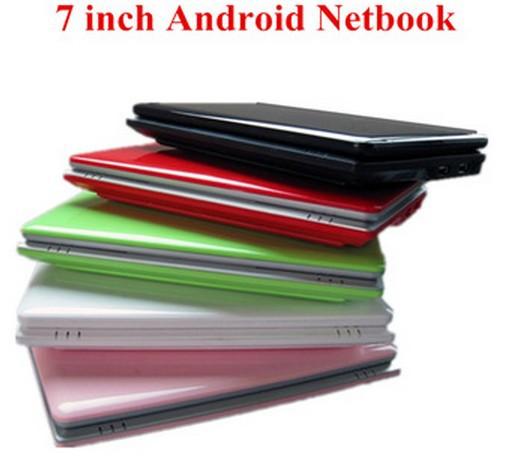 A buon mercato da 7 pollici tramite 8850 mini computer portatile Android 4.2 sistema 512m/1g 4g ram rom androide notebook portatile con webcam