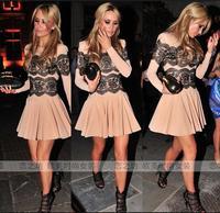 Ebay fashion women's fashion o-neck long-sleeve formal dress expansion  one-piece dress