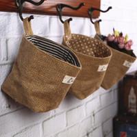 4 for za kka home fluid bag grocery bags double faced fabric walls bag desktop storage bag