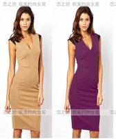Ebay V-neck slim hip pencil one-piece dress