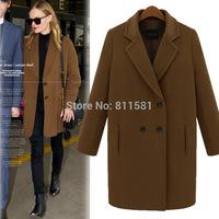 Winter fashion winter plus size wool female coat medium-long woolen outerwear suit collar wool coat female