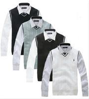2014 Fashion New Brand Men V-neck Vest sweater Wool Waistcoat Vest Sleeveless Sweater