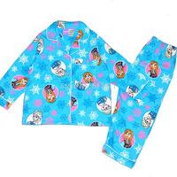 wholesale 5pcs/lot girls frozen pyjamas 2014 christmas kids pajamas frozen pajamas brand girls clothing sets frozen sleepwear