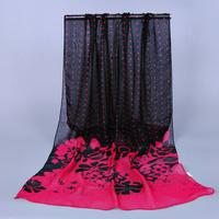2014 New  Fashion Bandana Polyester  Spain Women Shawls And Scarves  Flower Printed  Autumn Spring Summer Foulard Women  Scarf