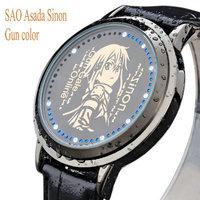 Free Shipping High Quality New Wristwatches SAO sword art online Asada Sinon wrist watch Anime waterproof LED touch screen watch