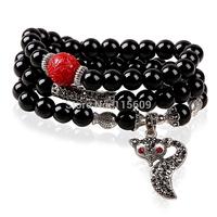 Fashion balack strand bracelets & bangles for women brand jewelry accessories wholesale