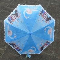Student Frozen Umbrella Princess Elsa & Anna Sweet Blue Color Frozen Folding Umbrella Frozen Sunny and Rainy Umbrellas Hanging