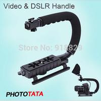NEW!C Bracket Video Handle Handheld Stabilizer Grip for DSLR Camera DV Camcorder  Free Shipping