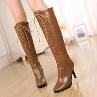 women's knee boots high heel shoes women women boot Fashion winter over-the-knee women's boots shoes sexy warm long high boots