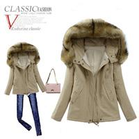 Winter jacket women short design thickening berber fleece slim wadded jacket outerwear female winter coatovercoat