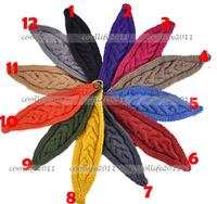 free shipping HOT NEW Knit Headband Women Crochet Hair Band Warmer Hat Headwrap Button