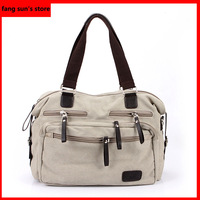 2014 new men's fashion casual canvas shoulder bag man bag diagonal package bag Korean version of the influx of women