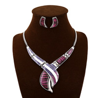 Christmas african costume jewelry sets for women statement wedding necklace and earrings set wholesale bijoux