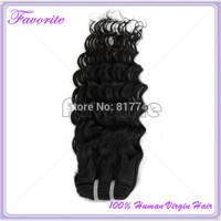 Unprocessed Virgin Human Hair Extension, Brazilian Deep Wave 1PCs/Lot Ali Favorite Hair 6A Brazilian Virgin Hair Weaves Bundles