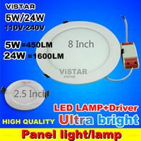 5W 24W LED PANEL downlight spotlight 110v 220v 240v Warm white Cold white free shipping
