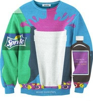 2014 New fashion Women Men Beverage bottle Sprite color Print 3D Sweatshirts Hoodies Galaxy sweaters Tops Free shipping