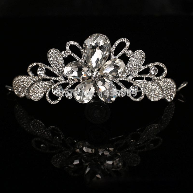 The new Crown drops crystal femininos bridal jewelry hair accessories wedding accessories head jewelry tiara(China (Mainland))